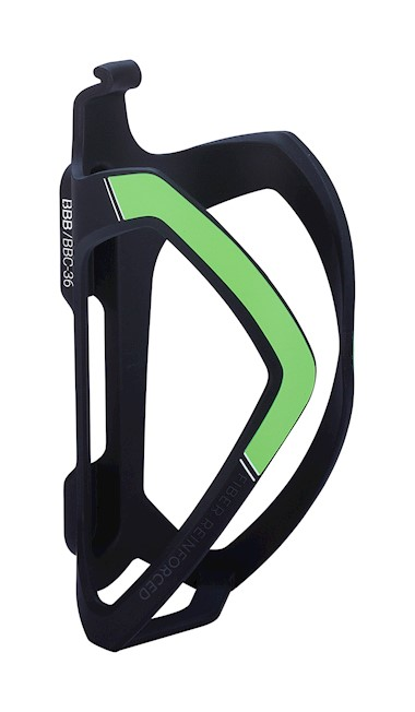 BBC-36 - FlexCage Bottle Cage (Matte Black, Green)