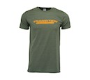 TBC T-Shirt Heather Standard Logo (Green & Orange, L)