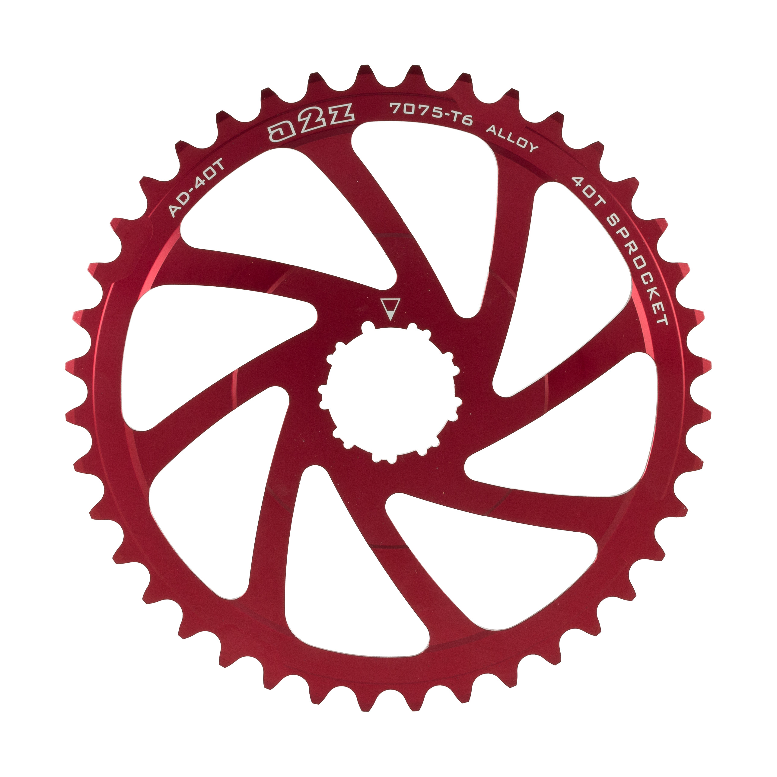 A2z-Wide-Range-Cassette-Adapter-Sprocket-40T-Red thumbnail 1