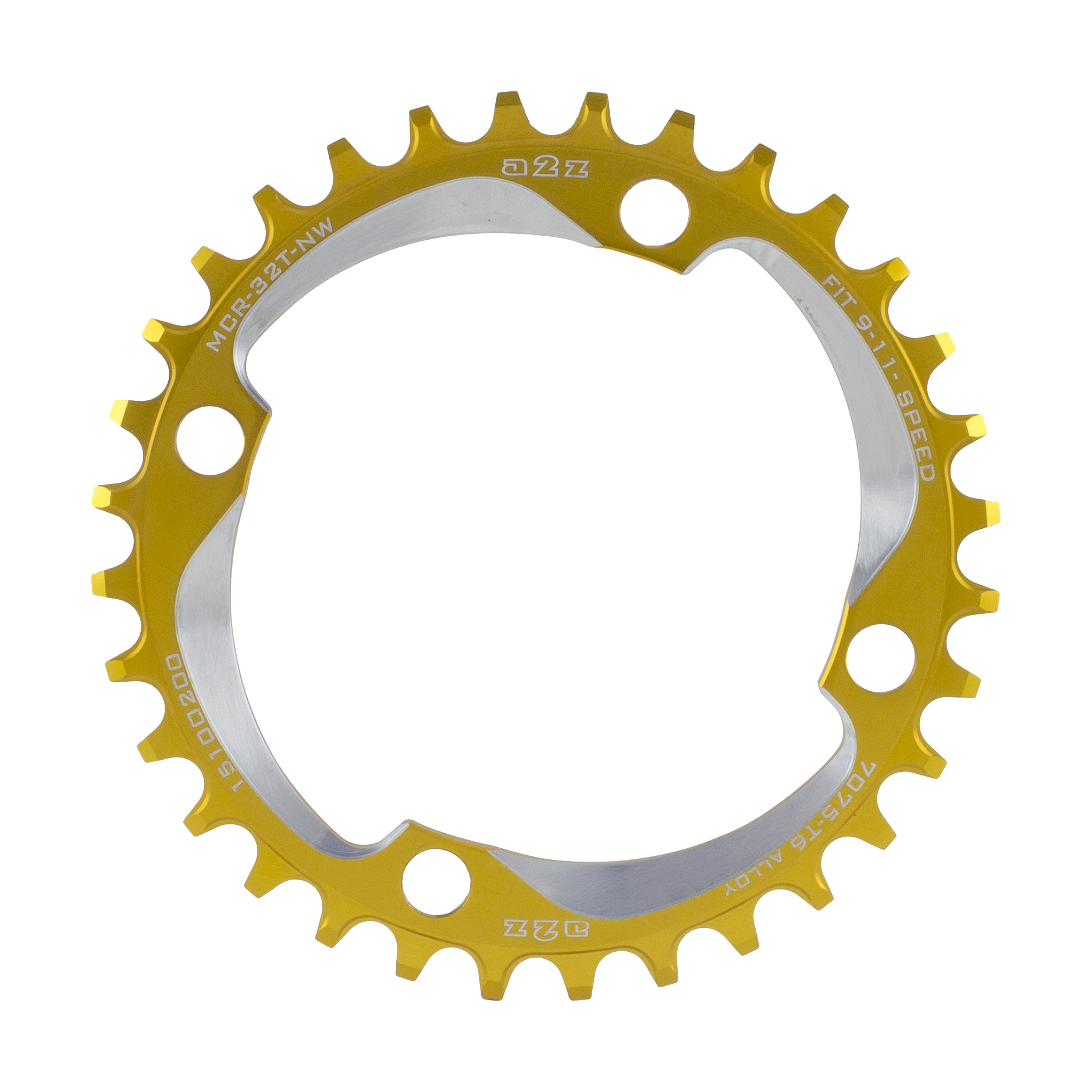 A2z-Narrow-Wide-Chainring-104Bcd-32T-Gold